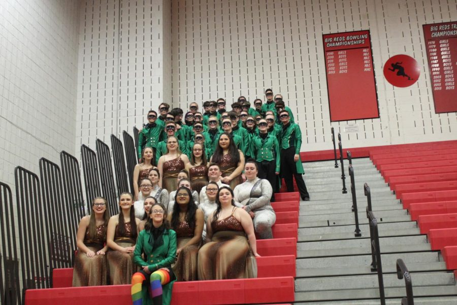 Winter Drumline and Guard Performance Pictures