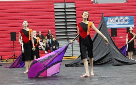 Winter Colorguard Competition, CVHS