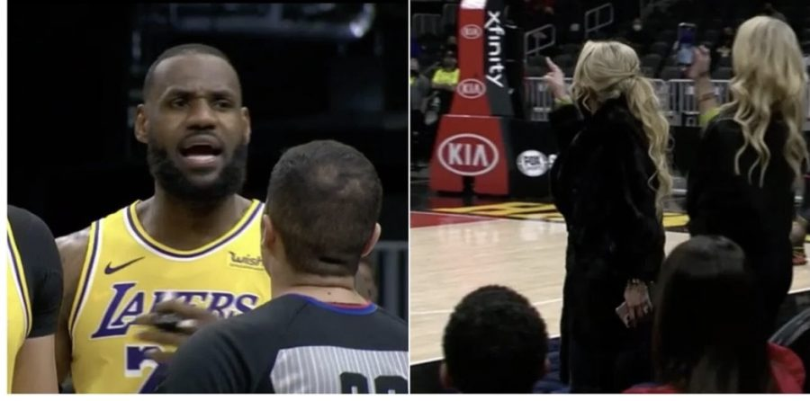 Lebron vs Courtside Karen