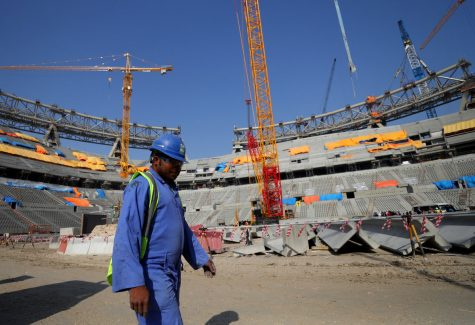 DOHA, QATAR - DECEMBER 20: General view of the construction work at Lusail Stadium on December 20, 2019 in Doha, Qatar. (Photo by Francois Nel/Getty Images) (Photo by Francois Nel / GETTY IMAGES EUROPE / Getty Images via AFP)